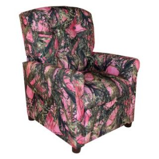 Dozydotes 4 Button Kid Recliner   Camouflage Pink with True Timber Fabric   Kids Recliners