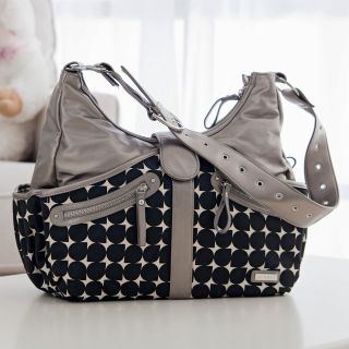 JJ Cole Swag Diaper Bag   Silver Drop   Designer Diaper Bags