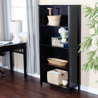 Pearce Black Bookcase   Bookcases