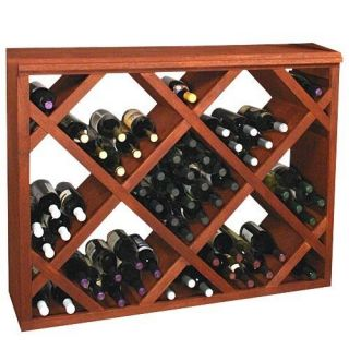 Designer Series 132 Bottle Half Height Diamond Wine Bin and Rack   Wine Storage