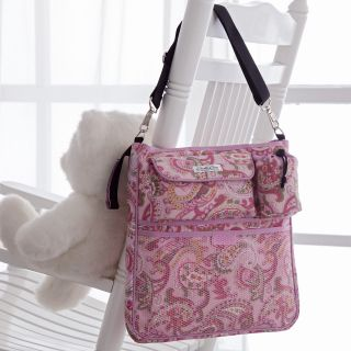 Bumble Collection Samantha Stroller Diaper Bag   Pink Paisley   Designer Diaper Bags