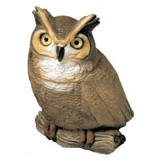 Sandicast Original Size Owl Sculpture   Garden Statues