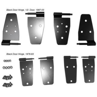 Rugged Ridge Black Powder Coated Door Hinges