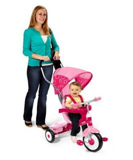 Radio Flyer 4 in 1 Trike   Girls Pink   Pedal Toys
