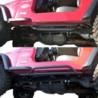 Olympic 4X4 Products Olympic Black Nerf Bars For Jeep Wrangler