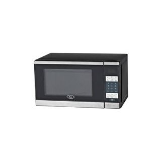 Brentwood Oster .7 cu. ft. Digital Microwave Oven   Black with Stainless Steel Front   Microwave Ovens