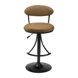 Hillsdale Venus Adjustable Height Swivel Bar Stool   Bear Suede Seat   Bar Stools