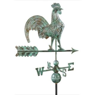 Good Directions 25 in. Rooster Weathervane   Blue Verde   Weathervanes
