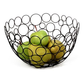 ... Spectrum Shapes Circles Round Fruit Bowl Black Fruit Baskets U0026 Holders  ...