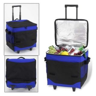 60 Can Collapsible Rolling Picnic Cooler   Coolers
