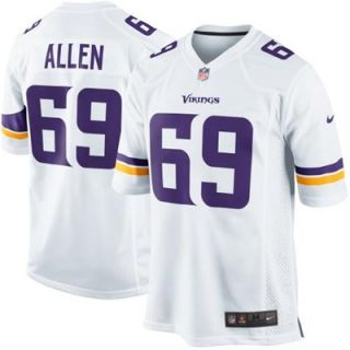 Nike Jared Allen Minnesota Vikings New 2013 Game Jersey   White