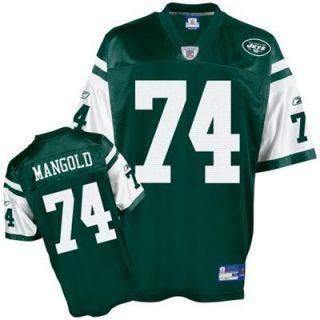 Reebok NFL Equipment New York Jets #74 Nick Mangold Green Replica Football Jersey