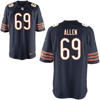 Nike Jared Allen Chicago Bears Game Jersey   Navy Blue