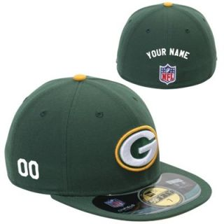 New Era Green Bay Packers Mens Customized On Field 59FIFTY Football Structured Fitted Hat