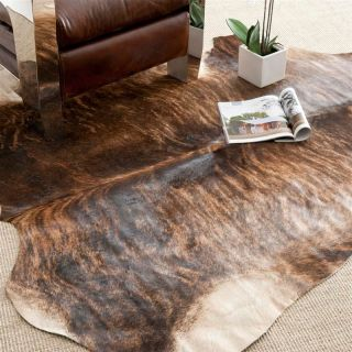 Safavieh COH211C 5 Cow Hide Rug   Black / Brown   4.5 x 6.5 ft.   Area Rugs