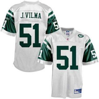 Reebok NFL Equipment New York Jets #51 Jonathan Vilma White Replica Football Jersey