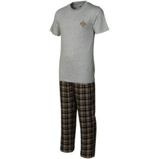 New Orleans Saints Empire Pajama Set   Gray/Gold