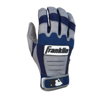 Franklin CFX Pro Series Adult Batting Gloves   Gray/Navy   Players Equipment