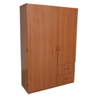 Home Source 2 Door Wardrobe   Closet Organizers
