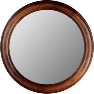 Hitchcock Butterfield Rounds Series Round Wall Mirror   772   Dark Oak   Wall Mirrors