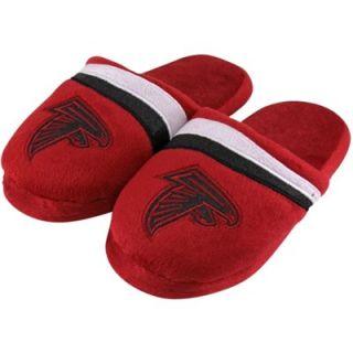 Atlanta Falcons Ladies Glitter Stripe Slide Slippers   Red