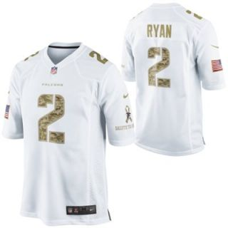 Nike Matt Ryan Atlanta Falcons Salute to Service Game Jersey   White