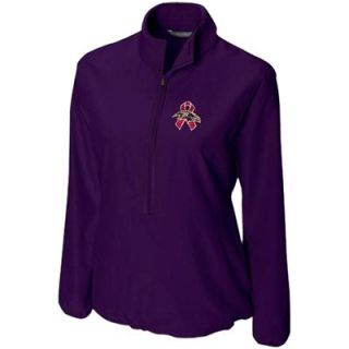 Cutter & Buck Baltimore Ravens Breast Cancer Awareness DryTec Half Zip Jacket   Purple