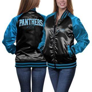 Carolina Panthers Ladies Team Spirit Satin Jacket   Black/Panther Blue