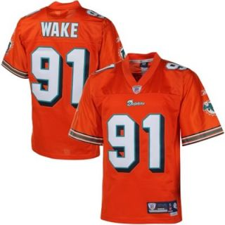 Reebok Cameron Wake Miami Dolphins Premier Tackle Twill Jersey   Orange