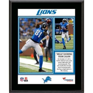 Calvin Johnson Detroit Lions 329 Receiving Yards Record Sublimated 10.5 x 13 Plaque
