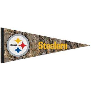 Pittsburgh Steelers 12 x 30 Real Tree Camo Premium Pennant