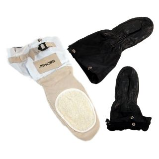 Jemcor Black Leather Ski Doo Mitt With Removable BOA Liner   Winter Gloves