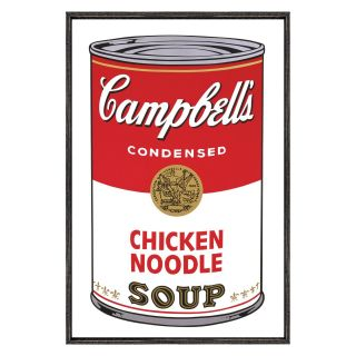 Campbells Soup I Chicken Noodle   1968   18 x 12 in.   Framed Wall Art