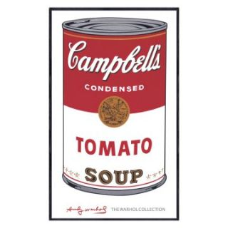 Campbells Soup I Tomato   1968   18 x 12 in.   Framed Wall Art