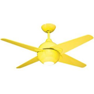 Yosemite Home Decor SPECTRUM42Y Spectrum 42 in. Indoor Ceiling Fan with Light Kit   Yellow   Ceiling Fans