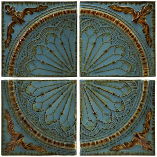Blue Quarter Medallion Iron Wall Art   Set of 4   Wall Sculptures and Panels