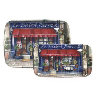 Pimpernel Cafe De Paris Large Melamine Tray   Serving Trays