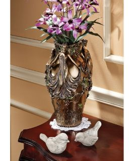 Design Toscano 14H in. Dancing Maidens Centerpiece Urn   Table Vases