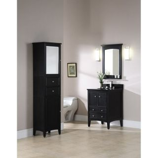 Xylem Kent 25 in. Brown Ebony Single Bathroom Vanity with Optional Mirror   Single Sink Bathroom Vanities