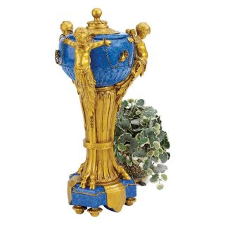 Design Toscano 21H in. The Carlisle Cherubs Centerpiece Urn   Table Vases