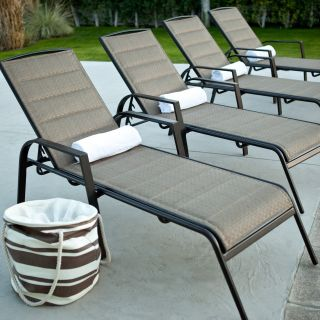 Del Rey Padded Sling Chaise Lounges   Set of 2   Outdoor Chaise Lounges
