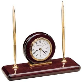 Howard Miller Rosewood Desktop Clock Set   Office Desk Accessories