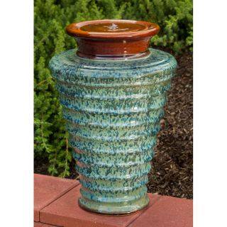 Alfesco Home Twister Ceramic Indoor/Outdoor Fountain   Fountains