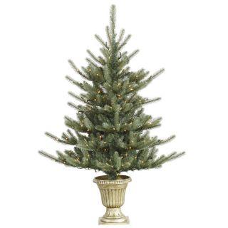 Vickerman 5 ft. Potted Colorado Blue Pre Lit Christmas Tree   Christmas Trees