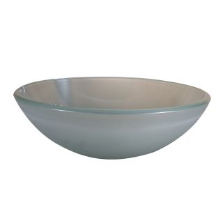 Yosemite Home Decor Grace Round Vessel Sink   Frosted   Bathroom Sinks
