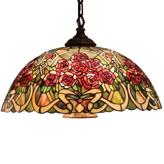 Meyda Rose Bouquet Tiffany Pendant Swag Light   20W in.   Tiffany Ceiling Lighting