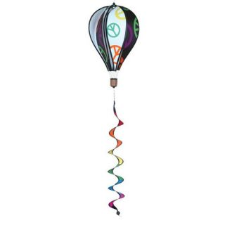 Premier Designs 16 in. Peace Hot Air Balloon Wind Spinner   Wind Spinners