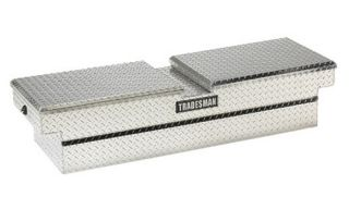 Tradesman Full size Truck Aluminum Cross Bed Tool Push Button Box   Truck Tool Boxes
