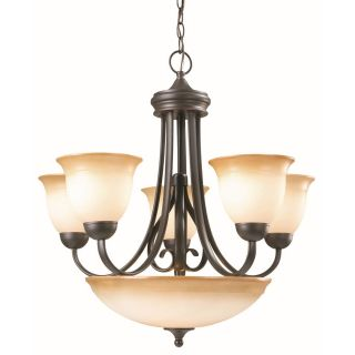 Design House 512624 Cameron 6 Light Chandelier   Oil Rubbed Bronze Finish   Chandeliers
