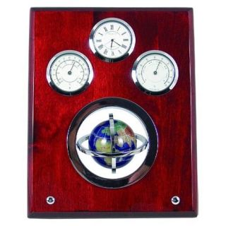 Globe Nautical Plaque Desktop or Wall Clock   Thermometers